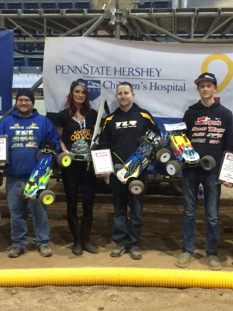 Top 3 in truggy are Anthony Mazzara and Jason Shreffler, Griffin Hanna